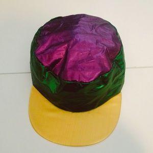 Metallic Mardi Gras Hat - Purple, Green & Gold